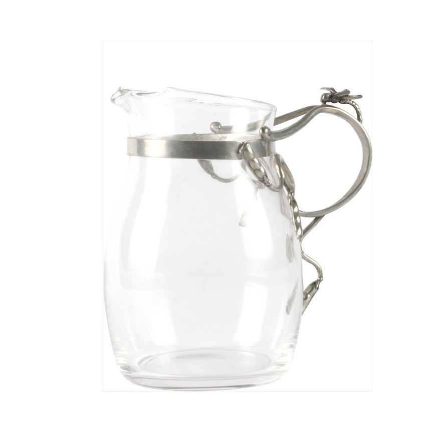 Glass Pitcher Small  Dragonfly