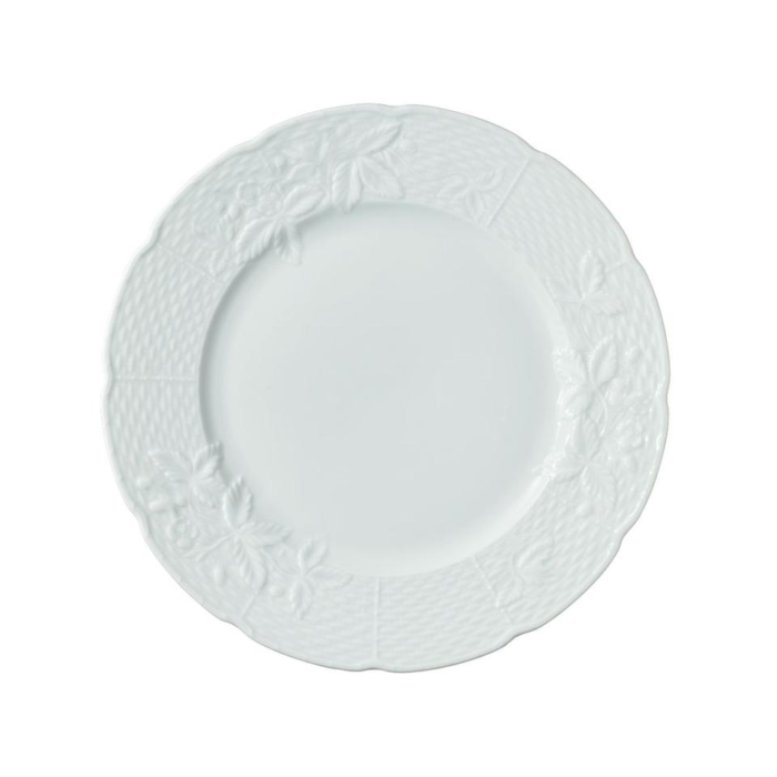 George Sand White Salad Cake Plate