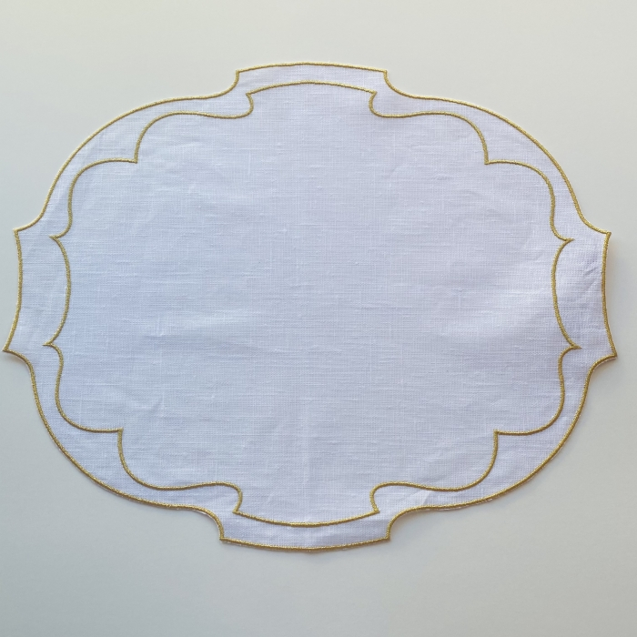 Parentesi Placemat White and Gold