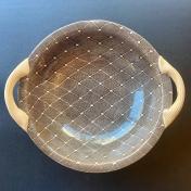 "9"" VEG BOWL with handles DIAMOND CHESTNUT"