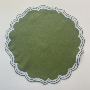 Victoria Placemat Green with White