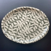 Small Oval Platter Fern Pine