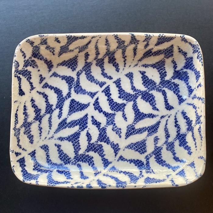 Tidbit Bowl Fern Cobalt