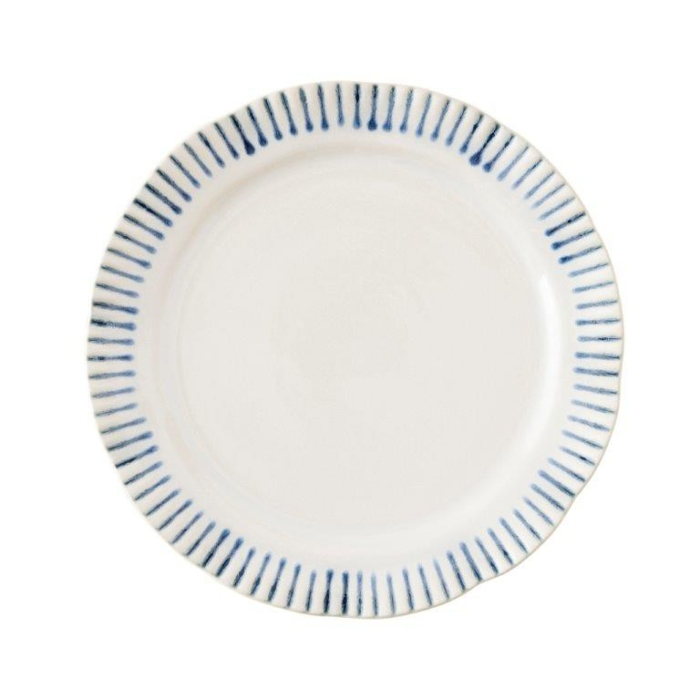 juliska wanderlust sitio stripe indigo dessert/salad plate