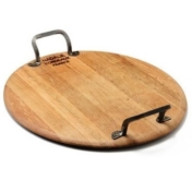 wood platter with handles