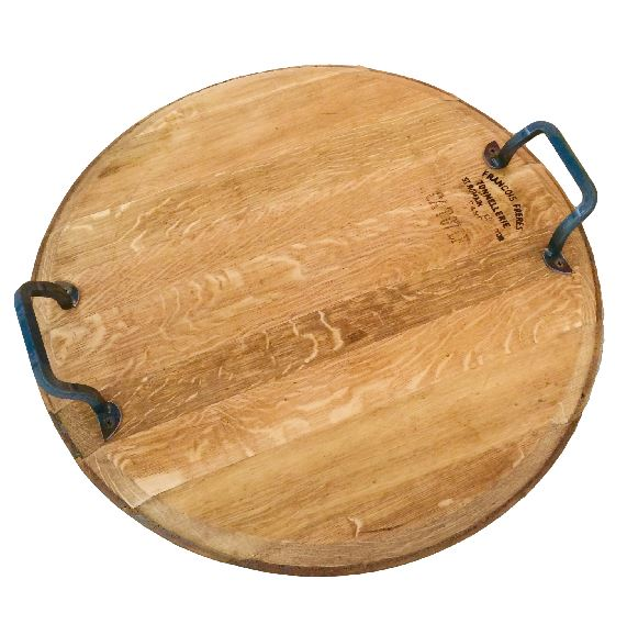 Oak Platter With Handles And Lazy Susan Medium
