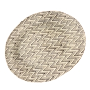 terrafirma ceramics medium oval chevron chestnut