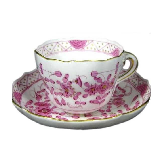 Oriental Flowers Cup And Saucer Elizabeth Bruns Inc