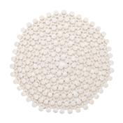 S/4 Round White Bamboo