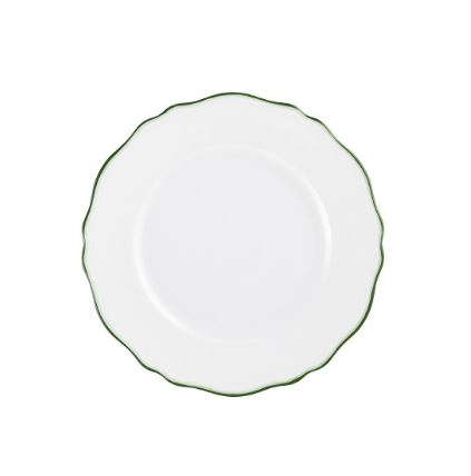 Touraine Double Flat Green Dinner Plate
