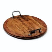 vintage wine barrel lid tray