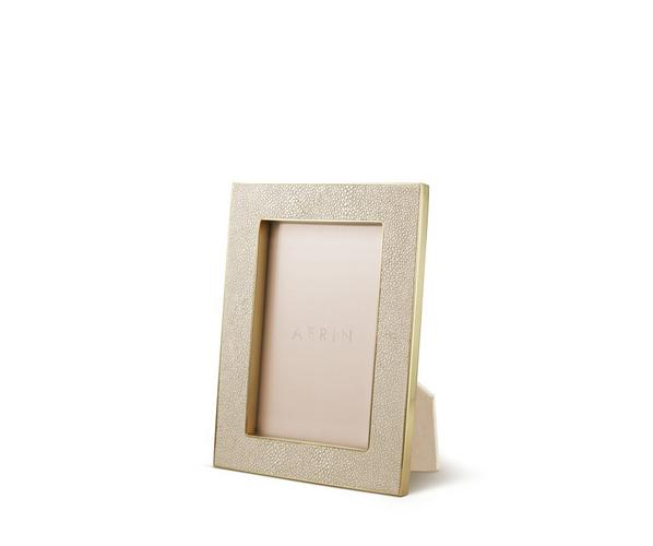 Aerin Wheat Shagreen 4x6 Frame