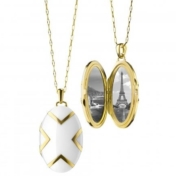 monica rich kosann white ceramic locket